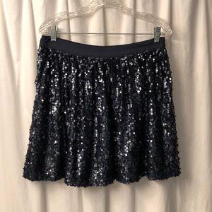 Tommy Hilfiger navy blue sequin skirt